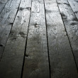 Dark wooden grunge floor planks background or texture — Stock Photo