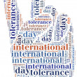 Tag or wor cloud international tolerance day related — Stock Photo