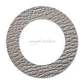 Concepto de círculo con cuero blanco y un lugar vacío para texto — Foto de Stock