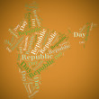 Tag or word cloud Republic Day related in shape of India — Stock Photo
