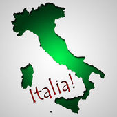 Graphic design in shape of Italy country — Stock Photo