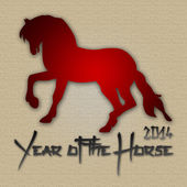 Graphic design Horse Year in China related — Stock Photo