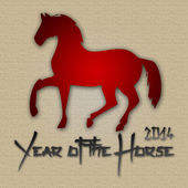Graphic design Horse Year in China related — Photo
