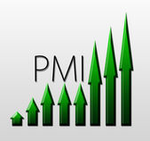 Chart illustrating PMI growth, macroeconomic indicator concept — Stock Photo