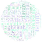 Word cloud SPA or health care related — Stock Photo