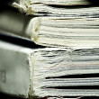 Reading concept of printed press or newspaper — Stock Photo