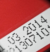 Expiry date printed on product box — Stock Photo