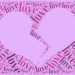 Tag or word cloud love and Valentine's Day related — Stock Photo