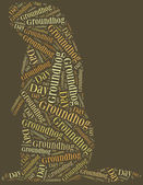 Tag or word cloud Groundhog Day related — Stock Photo