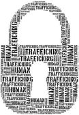 Tag or word cloud human trafficking awareness day related — Foto Stock