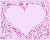 Tag or word cloud Valentine's Day related — Stock Photo