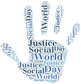 Tag or word cloud World Day of Social Justice related — Stock Photo
