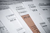 Blank income tax forms — Stock Photo