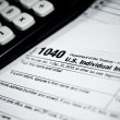 Stock Photo: Blank income tax forms