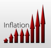 Chart illustrating inflation growth, macroeconomic indicator — Stock Photo