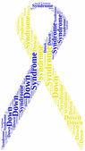 タグまたは word のクラウド世界ダウン症の日関連 — ストック写真