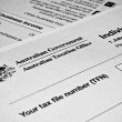 AustraliIndividual tax return form — Stock Photo #40870795