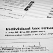 AustraliIndividual tax return form — Stock Photo #40870797