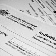 AustraliIndividual tax return form — Stock Photo #40870813