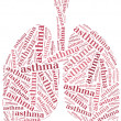 Healthcare concept of respiratory system disease. — Stock Photo