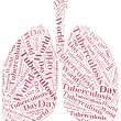 Word cloud World Tuberculosis Day related. — Stock Photo