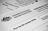 Australian Individual tax return form — Stock Photo