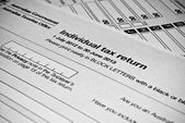 Australian Individual tax return form — Stockfoto