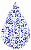 Word cloud World Water Day or water saving related — Stock Photo