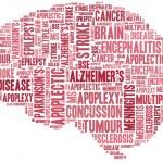 Word cloud brain disease related in shape of human brain — Stock Photo #42017367