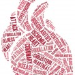 Word cloud heart disease related in shape of heart organ — Stock Photo #42017511
