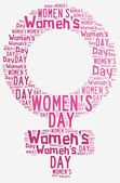 Graphic design Women's Day related in shape of female symbol — Foto de Stock