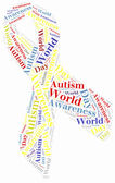 Word cloud Autism related — 图库照片