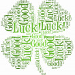 Tag or word cloud luck related in shape of four leaf clover — Stock Photo #42813127