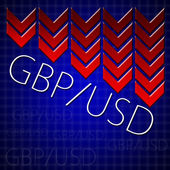 Graphic design trading related illustrating currency drop — Stock Photo