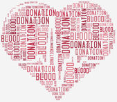 Word cloud blood donation related — Photo