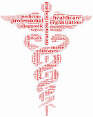 Word cloud NHS or public health service related — Stock Photo