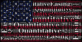 Word cloud concept related to quantitative easing — Stock Photo