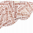 Word cloud hepatitis or liver related — Stock Photo
