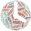 Tag cloud illustration related to happy hours — Stock Photo #47906285