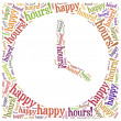 Tag cloud illustration related to happy hours — Stock Photo #47935793