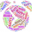 Tag cloud illustration related to happy hours — Stock Photo #47935803