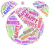 Tag cloud illustration related to happy hours — Stock Photo