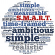 Word cloud illustration related to SMART concept of goals — Stockfoto