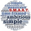 Word cloud illustration related to SMART concept of goals — Foto Stock