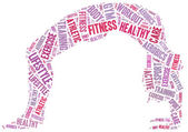 Word cloud illustration related to fitness or sport activity — Stock Photo