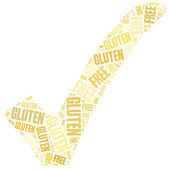 Word cloud illustration gluten free food related — Foto de Stock