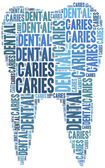 Tag cloud illustration related to teeth care — Stock Photo