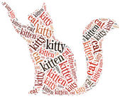 Word cloud illustration funny cat related. — Stock Photo