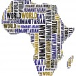 Word cloud illustration related to humanitarian aid — Stock Photo #50416243