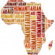 Word cloud illustration related to humanitarian aid — Stock Photo #50416301